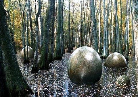 снимка на каменни топки в Коста Рика