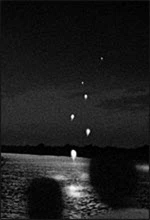 снимка на огнените топки Нага