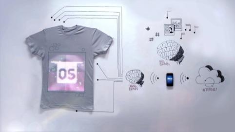 Тениска свързана към интернет