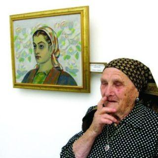 Тодорка Каменова до картината на Владимир Димитров - Майстора