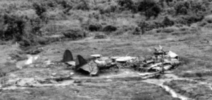 останки от сваления на българска територия самолет